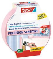 tesa® Nastro per Mascheratura contorni PRECISION SENSITIVE carta parati 25mX25mm