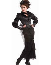 Steampunk Victorian Lady Gothic Vampire Fancy Dress Womens Halloween Costume STD