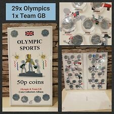 OLYMPIC SPORT COIN HUNT ALBUM LONDON 2012 for 29x 50p and 1x Team GB - NO COINS