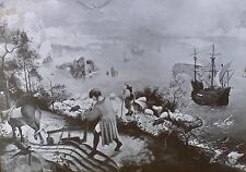 Landscape w/Fall of Icarus, Pieter Brugal the Elder, Magic Lantern Glass Slide