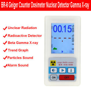 BR-6 Geiger Counter Dosimeter Radiation Nuclear Tester Gamma X-ray Professiona