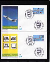Alemania / Germany /3 Sobres Primer Día - FDC año 1988  Europa CEPT