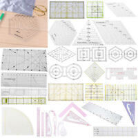 DIY Sewing Ruler Quilt Patchwork Template Quilting Sewing Measuring Tool AU