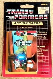 TRANSFORMER G1 ACTION CARD PACK (1) 1984 1985