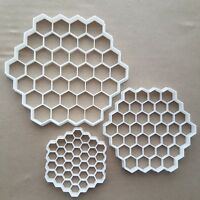 Honeycomb Bee Hexagon Shape Cookie Cutter Dough Biscuit Pastry Fondant Sharp