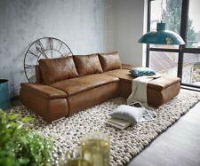 Couch Abilene Braun 260x175 mit Bettfunktion Ottomane variabel Ecksofa DELIFE