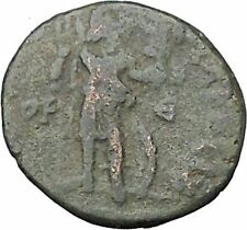 Honorius  Authentic Rare  Ancient Roman Coin Roma with trophy on spear  i49781