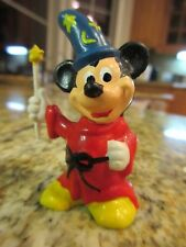 Vintage Fantasia Wizard Mickey Mouse Figurine Made in Hong Kong