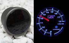 Volt Spannungsanzeige Voltmeter SMOKE LINE BLAU Schrittmotor AUTOGAUGE WARNLAMPE