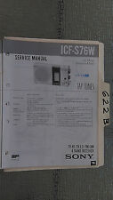 Sony icf-s76w service manual original repair book receiver radio 4 band tap tune