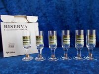 SET OF 6 MOSKOVSKAYA STEMMED SHOT GLASSES (B22)