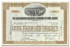 Lackawanna Railroad Company of New Jersey Stock Certificate