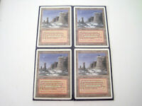 MAGIC THE GATHERING Dual Lands REVISED EDITION PLATEAU MTG 4 Cards SLEEVED RARE!