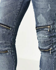 ZARA Ripped biker jeans W32-30 stretch denim Sold Out