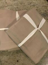 """Pottery Barn Set of 2 Linen Silk Blend Curtains 50"""" x 84"""" Simply Taupe NEW"""
