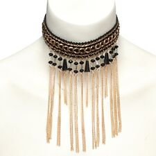 Gothic Halsband Perlen Pailletten Kette Choker Spitze Barock