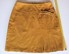 Hobbs UK 8 Mustard Yellow Corduroy Short Above Knee Skirt 70s Retro Style Ladies
