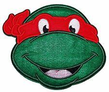 """Teenage Mutant Ninja Turtles Raphael Red Mask Head Shot Large 5"""" Tall Patch"""