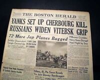 CHERBOURG FRANCE Falling To Americans POST D-DAY World War II1944 WWII Newspaper