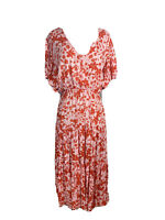 Feather + Noise Womens Size 12 Maxi Half Wrap Boho High Low Hem Dress
