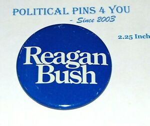1980 RONALD REAGAN BUSH campaign pinback button political presidential election