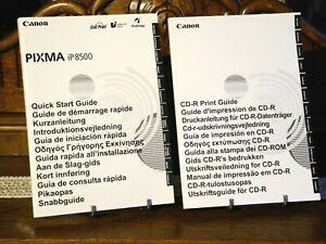 Canon PIXMA iP8500 Kurzanleitung & Druckanleitung für CD-R Datenträger
