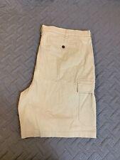 Croft & Barrow Khaki Cargo Pocket Shorts Cotton Spandex Blend Shorts Men Size 44