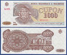 MOLDAWIEN / MOLDOVA 1000 Cupon 1993  UNC  P.3