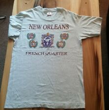 Vintage 80's 90's New Orleans French Quarter T Shirt Mardi Gras Jazz Steamboat