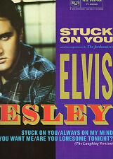 """ELVIS PRESLEY - STUCK ON YOU   12"""" UK. VINYL PS (1987) UNPLAYED"""