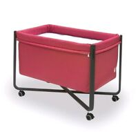 Cambrass Urban Next to Bed Mobile Crib/Cot Folds Flat ideal for Travel Red/Black