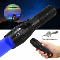 A100 Outdoor Hunting Tactical Flashlight LED Torch Blue Light Hiking Camp Lamp