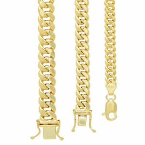 """14k Yellow Gold 4.5mm-7mm Miami Cuban Link Chain Necklace Sz 18""""-30"""""""