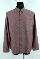 SCOTCH&SODA BNWT Burgundy Cotton Button-Up Collared Man Shirt Size 54 EU XL