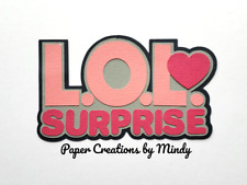 CRAFTECAFE MINDY Surprise party title premade paper piecing scrapbook DIECUT