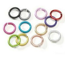 Large Mixed Colors Aluminum Chain Maille 15mm Jump Rings (30)