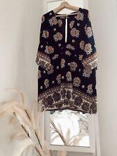 SZ 18 SHOWPO NAVY FLORAL DRESS BOHO