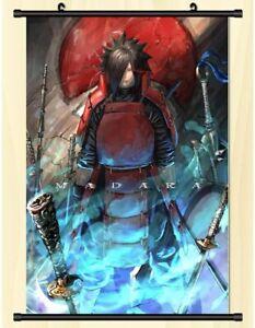 Großes Naruto Madara Stoffposter Rollbild Wallscroll Anime Wand Bild 60x90CM