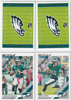 LOT (4) 2019 DONRUSS FOOTBALL CARSON WENTZ ZACH ERTZ EAGLES  - C1924