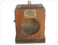 Old Vintage Wooden  Beautiful Show Case Box | Clock Box With Glass Fixed India