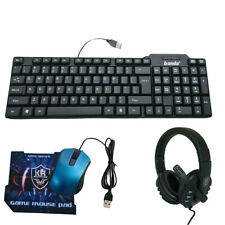 KIT COMPLETO GAMING TASTIERA MOUSE CUFFIE TAPPETINO 4 IN 1 GIOCO USB K50