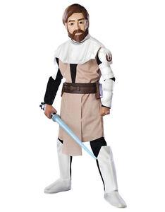 """Star Wars Kids Clone Wars Obi Wan Costume S2, M,Age 5-7, HEIGHT 4' 2"""" - 4' 6"""""""