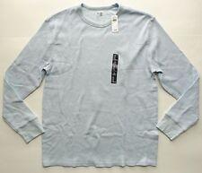 New Gap long sleeve waffle knit thermal shirt mens size extra large XL blue
