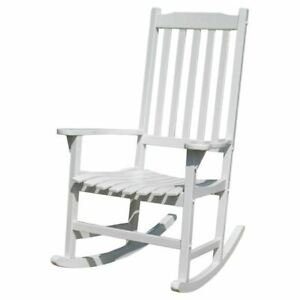 Traditional Rocking Chair, White Painted