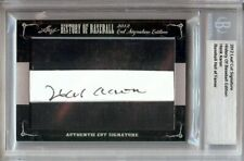 Hank Aaron 2012 Leaf Cut Signatures Auto Autograph Braves Hall of Famer #