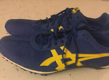 Asics 10.5 Blue And Yellow Womens Track Spikes