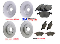 FORD FOCUS MK2 05-10 FRONT AND REAR BRAKE DISCS & PADS COMPLETE SET (CHECK SIZE)