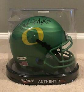 Marcus Mariota Autographed Oregon Apple Green Mini Helmet
