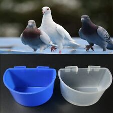 6/20pcs Cup Hanging Water Feeder Cage Cups Poultry Bird Pigeon Rabbit Chicken P