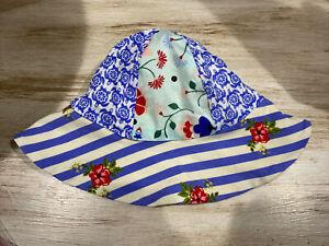 MATILDA JANE Baby Girls Floral Hat Size 12-18 Months